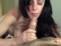 Kinky and attractive brunette with nice body gets her dripping pussy fucked riding the cock and sucks the dick taking a facial. Have a look at this chick in All Porn Sites Pass xxx clip.