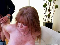 Darla Crane is one of those insatiable women that are ready to fuck every young guy. She takes his rock hard dick in her mouth and between her huge melons before it comes to pussy drilling.
