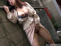 Get a load of this amazing hardcore scene where the sexy Miyuki Matsush sucks on this guy's hard cock before she's masturbated.