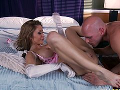 Johnny Sins fucks Monique Alexander's pussy from behind