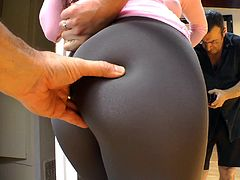 You won't be able to keep it in your pants as you watch this amazing compilation of cuties wearing pantyhose, yoga pants, and some sexy little shorts.