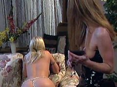 You will explode in your pants when you get your eyes on this blonde's perfect little asshole while she gets spanked by her lesbian friend.
