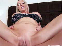 Emma Starr is his good looking mature woman with slim figure and really tight bald pussy. Johnny Castle drills her tight pink hole with wild desire. She gets her twat banged with her long legs apart without taking off her sexy short red dress.