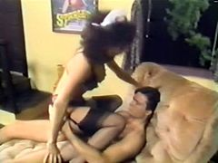 This maid is a sex freak! Seriously, she loves to fuck. She makes her employer an offer he can't refuse. She spreads her legs wide indicating how bad she wants him to drive his cock into her tight pussy. Horny dude doesn't waste any time. He pounds her mercilessly in and out loosening up her once tight hole.
