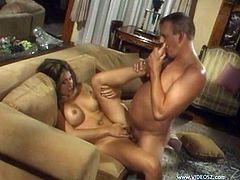 Horny MILF Olivia lays back and lets her big tits bounce as this guy slams his cock into her and makes her cum over and over again.