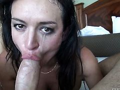 Manuel Ferrara wants to bang sex hungry Franceska Jaimess anal hole forever before blowjob