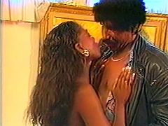 Curly and red haired ebony slut with small tits seized that hard cock and set to suck it as hard as she could. Have a look at that dirty black bitch in The Classic Porn sex clip!