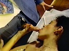 Curly and black haired zealous hookers provide thirsting freaks with passionate deep throat. Enjoy that steamy oral sex in The Classic Porn sex video!