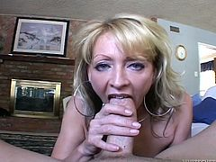 This sex-starved woman knows what she wants from her lover. She needs his hard cock. She takes it in her filthy mouth and sucks it passionately to get it hard and ready. When she gets what she wants she takes his hard cock from behind.