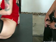 Big breasted office whore Katrina Jade gets fucked by Danny Mountain