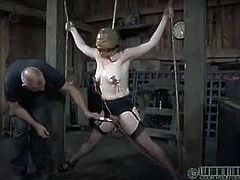 Realtime Bondage brings you a hell of a free porn video where you can see how the kinky redhead slave Maggie Mead gets tortured til she cums very hard in the dungeon.