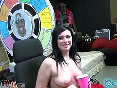 Horny brunette hoe Andy San Dimas rides and sucks big penis