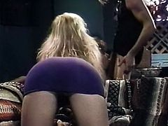 Dark haired chubby hoe with big titties posed on knees and pleased her guy with solid BJ. Then those bosomy chicks fell on licking sweet pussies of one another. Enjoy that steamy 3 some in The Classic Porn sex video!