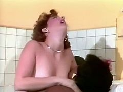 You are going to watch two sensual lesbians for free. Black maid polishes hairy pussy of white gal and sucks her nipples greedily.