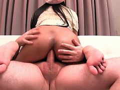 Lady Boy Gold brings you a hell of a free porn video where you can see how this naughty Asian brunette Ladyboy gets her ass blasted deep and hard into heaven.