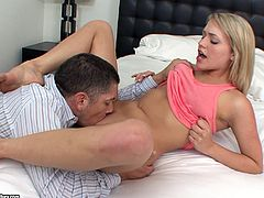 Saucy PAWG blondie Mia Malkova gets her twat filled with jizz