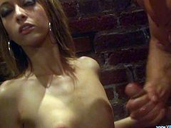 Seductive light-haired girl provides man with awesome blowjob and gets her slit drilled mish. Thereafter dude gives her cunnilingus and fucks her doggystyle.