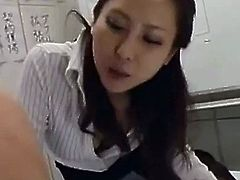 Japanese office lady strapon