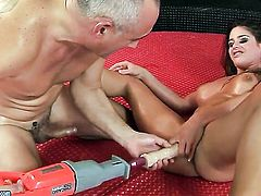 Brunette Betty Stylle gets her lesbian wet hole eaten out by Cathy Heaven the way she loves it