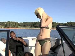 Take a look at this hardcore scene where the slutty blonde Jada Love is fucked in a boat while taking a ride through a lake.
