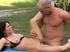 Rough sensations is what makes skinny cutie to scream so loud while having her hairy bush nailed right