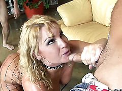 Flower Tucci has dick-hungry booty and takes Michael Stefanos love stick after cock sucking