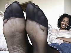 Ebony Pantyhose Feet 7