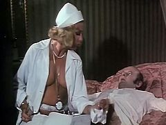 That fuck starving man lied in bed without any motions. He waited for his busty blond nurse to treat him with good deep throat. Look at that insatiable lassie in The Classic Porn sex clip!