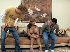Lewd milf Ava Devine is having fun with Keiran Lee and Michael Vegas in reality sex video. The bitch pleases the dudes with blowjobs and gets amazingly sandwiched.