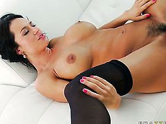 Franceska Jaimes with juicy hooters is a blowjob addict and Keiran Lee knows it