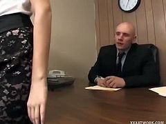 Missy Stone wants the job offered by Domenic Kane, but it seems that she has to do much more to impress him. She does so by bending over his desk and taking his cock.