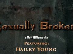 Hailey Young is the type of slut who can take an extremely deep throat fuck without a problem. Getting handled by a dominant man who ties her up was among her fantasies.