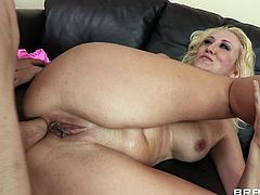 Curvy tattooed blonde milf Alana Evans gives a blowjob and a titjob to Jordan Ash. After that she gets her cunt and butt unforgettably fucked.