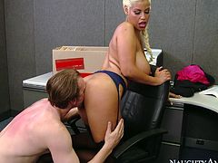 Buxom Latina hottie Bridgette B takes Mark Ashley's cock from behind