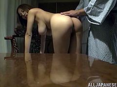 Prepare your cock for this Asian cougar, with a nice butt and big knockers, while she goes out of control by the touch of her husband.