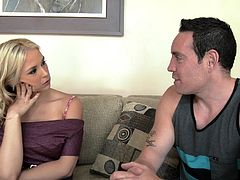 So tricky, stepmom waited so long for such an opportunity. Her stepson needs a favor and she knows exactly how to turn this situation in her advantage. She starts to suck his cock with such an appetite, a dish she didn't have in a long time. He is so powerless in front of her deepthroat skills.