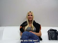 Czech Casting brings you a hell of a free porn video where you can see how a gorgeous Czech blonde gets banged pov style into heaven while assuming very hot poses.