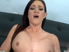 Peter North brings you a spectacularly hot free porn video where you can see how this hot brunette gets banged pov style into a breathtakingly intense orgasm.