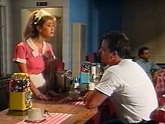 Light and curly haired hooker in uniform served her boss with coffee. He asked some hard deep throat and she set to strip right away. Have a look at that slutty woman in The Classic Porn sex video!