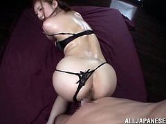 Masturbate as you watch this Asian babe, with natural breasts wearing sexy lingerie, while she goes really hardcore in a crazy foursome.