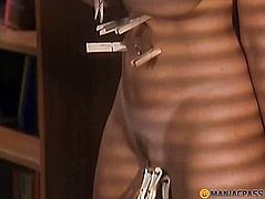 Special forceps clipped pussy girlfriend