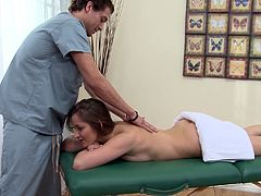 Take a look at this hardcore scene where the beautiful Dani Daniels gets an oil massage before being fucked silly by her masseuse.