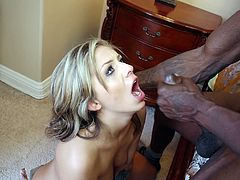 Have fun with this interracial scene where the slutty blonde Madelyn Monroe is fucked by a black monster cock as you hear her pleasureful moans.