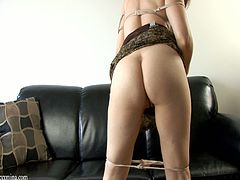 You will never have a mom as hot as she is. She shows off her hot ass and plays with her natural tits then fucks her pussy with her toys.