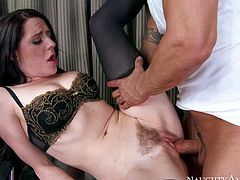 Samantha Bentley gets her bushy pussy pounded