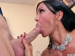 Check out these two lustful pornstars as they enjoy pleasing each other's kinky urges. He licks her pussy and she sucks on his dick until they go crazy in doggystyle.