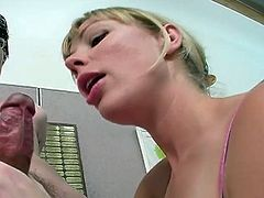 Office secretary babe takes on her boss with her nice wet pussy for some office sex tube video.