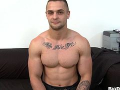 Horny ripped gay dude gives Denis Reed an amazingly hot blowjob and gets his yummy ass drilled in a hot doggystyle bareback fuck.