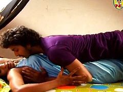 indian couple romance in bed