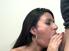 Niki is one big slut who adores big cocks. Not one cock made her choke ever like this one she can adore it. Even the dude is liking her commitment.